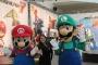Mario and Luigi at Mario Kart 7 LA Auto Show Booth