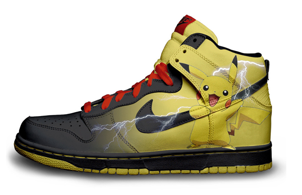 Nintendo character nike sneakers, Pikachu Nike Sneakers
