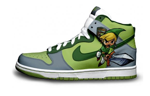 Nintendo character nike sneakers, Zelda Link Nike Sneakers