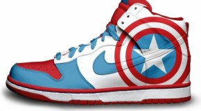Two Avengers Marvel the Nike Swoosh