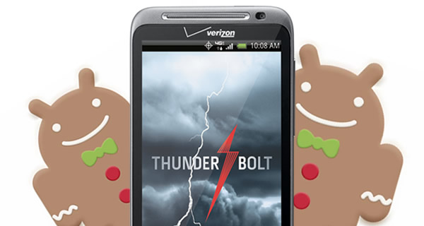 Gingerbread Hitting HTC Thunderbolt Soon
