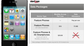 Verizon Eliminates iPhone 4 Unlimited Data Plans