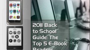 2011 Back to School Guide: The Top 5 e-Book Readers