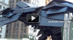 Videos: The Batwing In Motion On The Dark Knight Rises Set