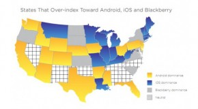 Mobile Market Breakdown Has Android OS Favored In Most States