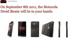 The Motorola Droid Bionic Hitting Verizon September 8