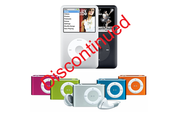 iPod Classic and Shuffle Discontinued