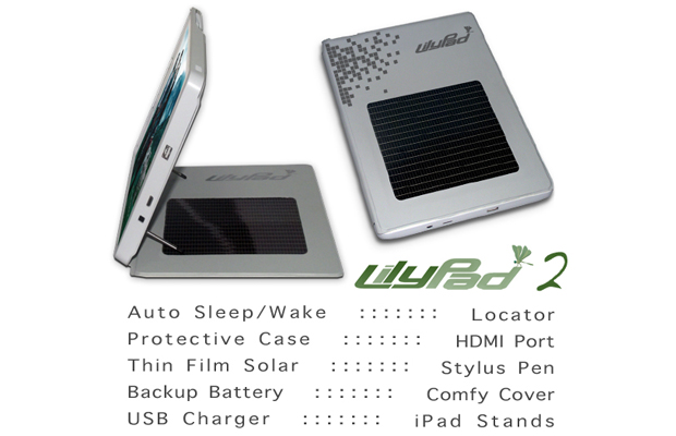 lilyPad ipad 2 solar case features
