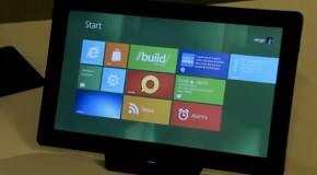 Video: Windows 8 Samsung Tablet Developer Preview