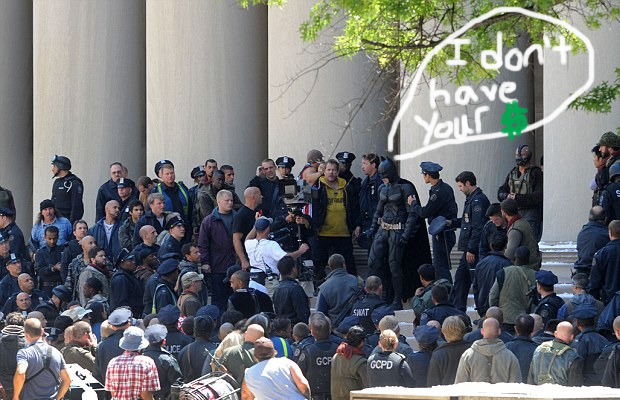 Dark Knight Rises Wall Street Protests