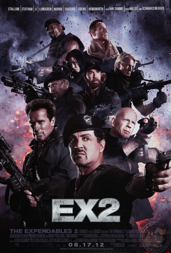 the Expendables 2 Film Poster