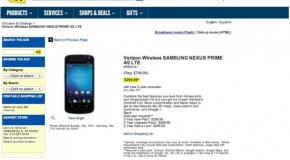 Best Buy's Galaxy Nexus Landing Page Labels Phone Wrong Name, Prices Phone At $299
