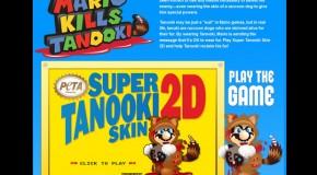 "WTF: PETA Targets Super Mario With ""Mario Kills Tanooki"" Campaign"
