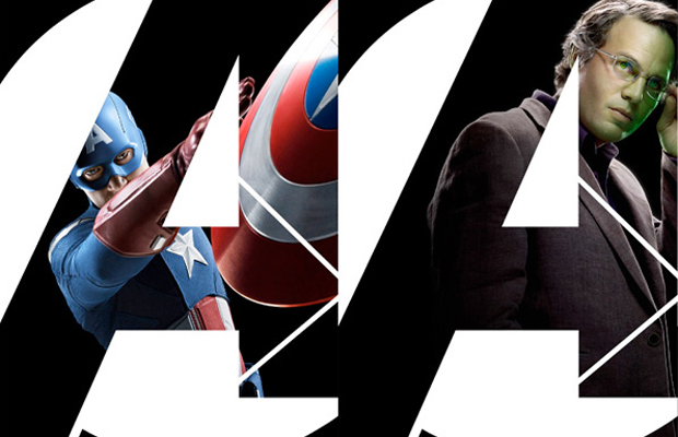 The Avengers Posters Captain America and Hulk