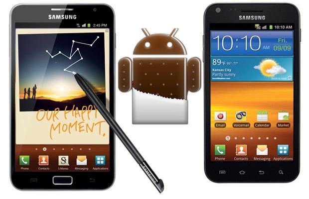 Galaxy S II and Galaxy Note Ice Cream Sandwich Updates