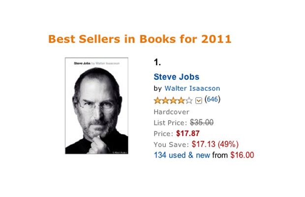 Steve Jobs Biography Tops Amazon's Best Selling Books of 2011