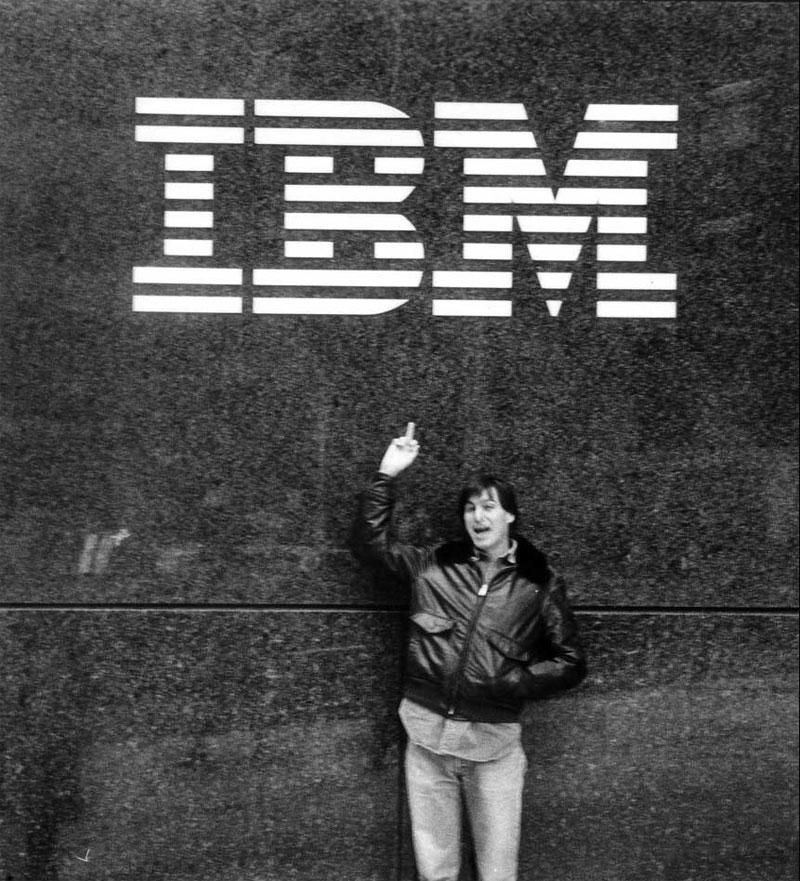 Steve Jobs Middle Finger IBM