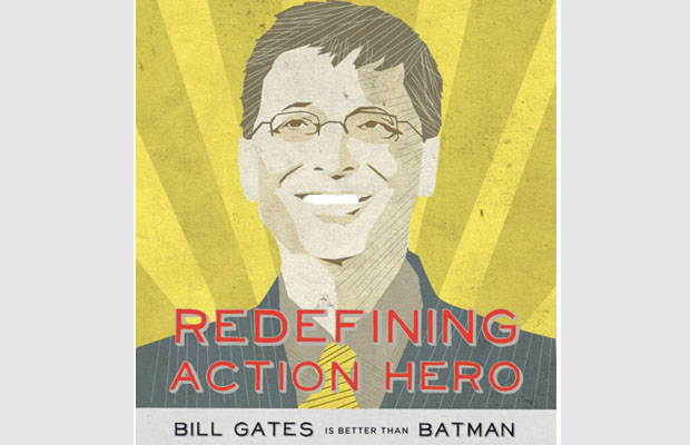 Bill Gates Batman Inforgraph