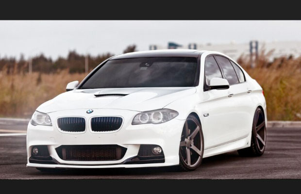 BMW Tricked Out http://evolveent.com/bmw-5-series-pimped-out-by-vossen-wheels/