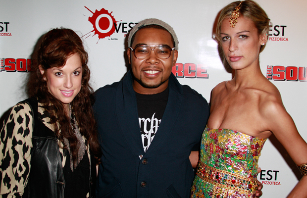 Nicole Stillings and Alexa Young at OJ Williams 22nd Birthday Bash courtesy of The Source Magazine.