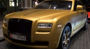Video: Rolls Royce Dipped In Matte Gold