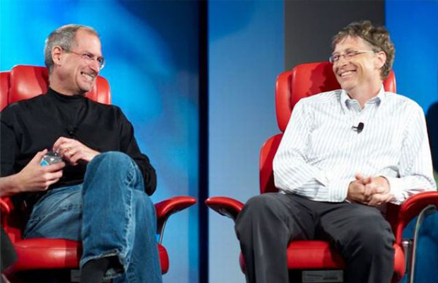 Steve Jobs Bill Gates Settle Beef