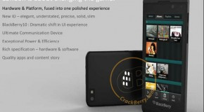 BlackBerry 10 Phone Image Leaked, Flaunts Ultra-Slim Design and New UI