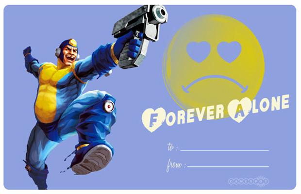 Mega Man Valentine's Day Card