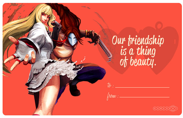 Street Fighter X Tekken Valentine's Day Cards
