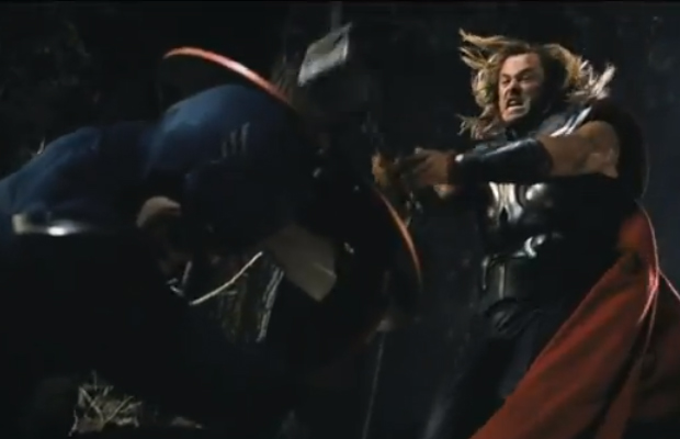 The Avengers Captain America vs Thor