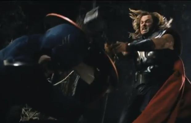 The Avengers Captain America vs Thor
