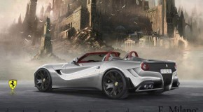 Open-Top Ferrari F12 Berlinetta Spyder Rendering