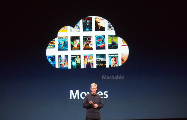 Apple iCloud to store movies and playlists.