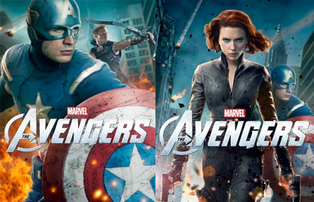 The Avengers Captain America and Black Widow Posters