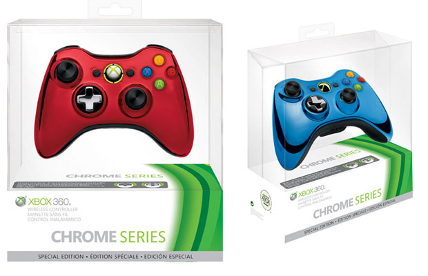 Red Chrome Xbox 360 Controller