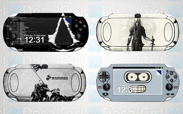 PS Vita Decals From DecalGirls.com