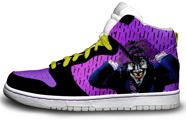 "The Joker ""Killing Joke"" Custom Nike Sneakers"