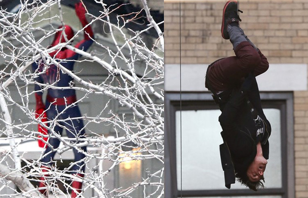 amazing spider-man 2 set photo