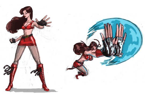 Streets of Rage Reboot Blaze Concept Art