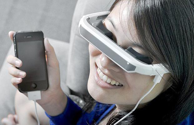 iPhone virtual digital video glasses