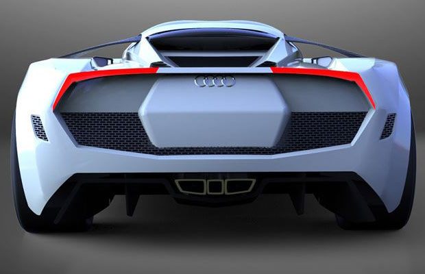 Audi R10 Concept rear