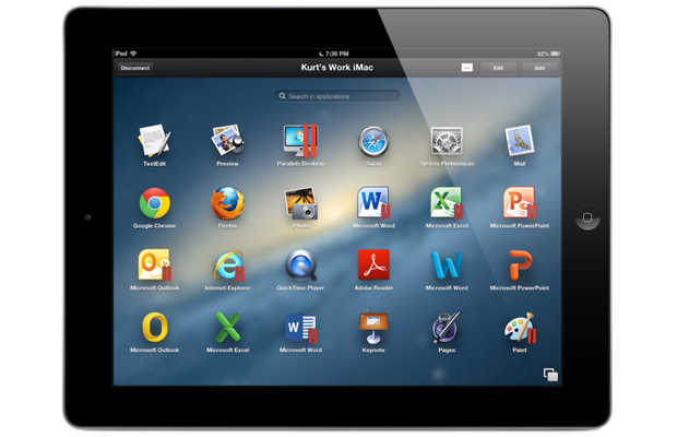 Parallels Access iPad