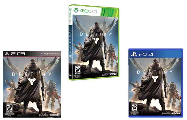 Destiny Game Covers PS3 PS4 and Xbox 360
