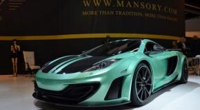 Frankfurt Motor Show 2013: Mansory McLaren 12C Stuntin' In Turquoise