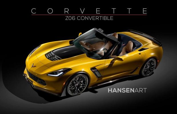 2015 Chevrolet Corvette Z06 Convertible rendering