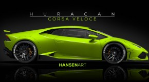 Lamborghini Huracan Rendering Introduces the 'Corsa Veloce'