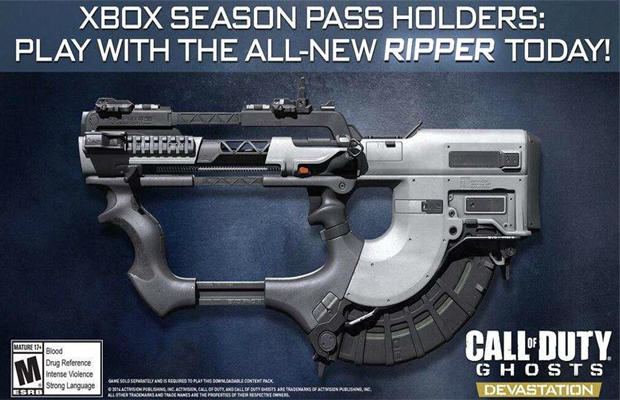 Call of Duty Ghosts Ripper Gun DLC