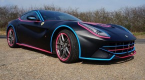 "Ferrari F12 Berlinetta Receives ""Miami Vice"" Wrapping For Gumball 3000"