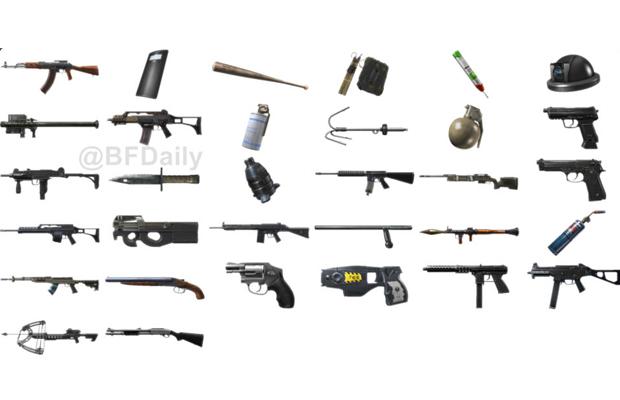 Battlefield hardline weapons
