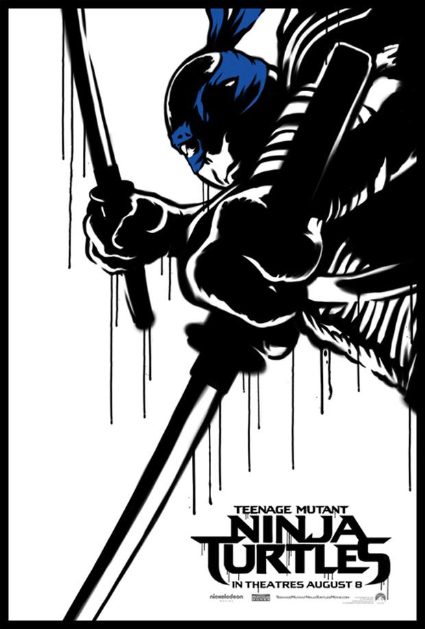 TMNT 2014 Poster Leonardo